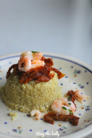 quinoa krewetki