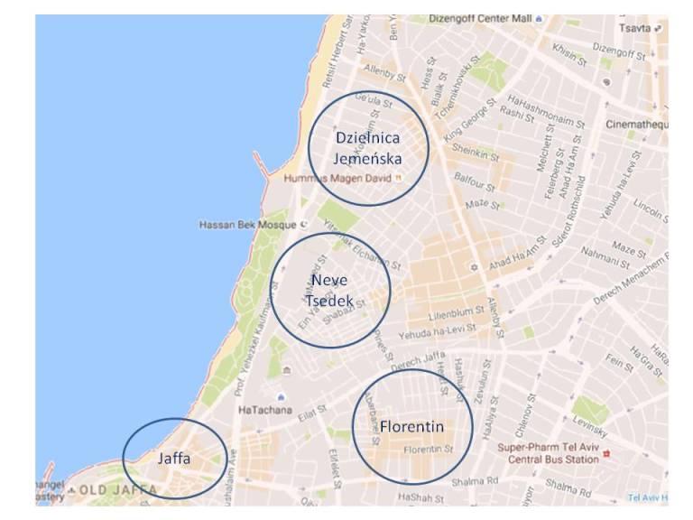 mapka-dzielnice-tel-aviv