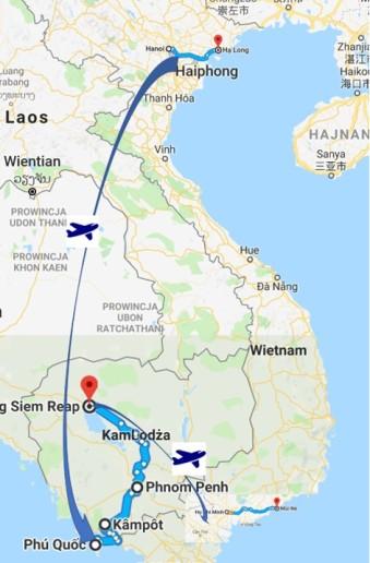 wietnam kambodza trip